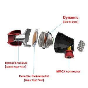 Image 3 - Senfer DT6 1BA + 1DD + セラミック圧電ハイブリッド 3 ドライブユニットで耳イヤホンdjハイファイ金属イヤホンで取り外し可能なデタッチmmcx