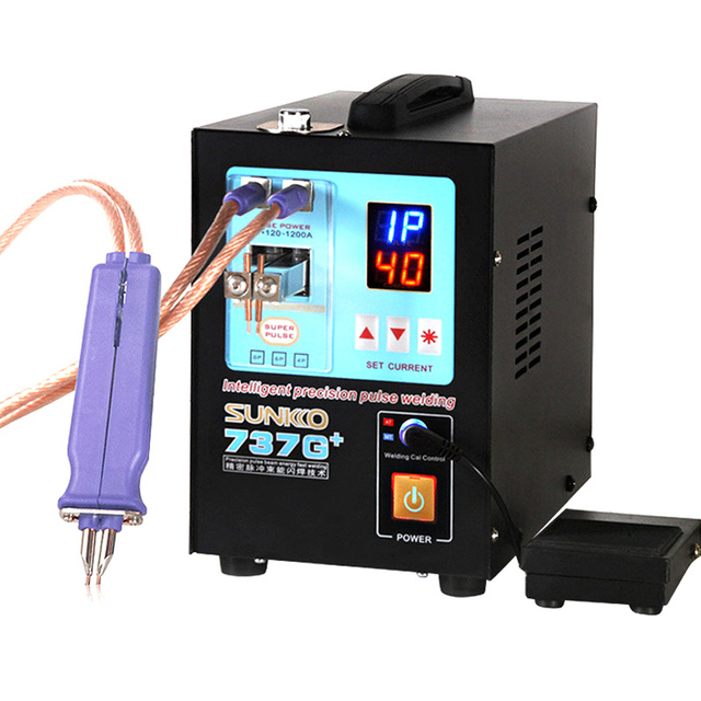 SUNKKO 737G+ 4.3KW Spot Welding Machine For 18650 Batteries Nickel Strip Connection Battery spot Welder High Power Welding Pen