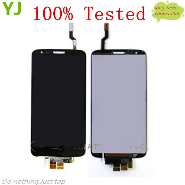 HK free shipping YJ 100% Tested Black OEM LCD Assembly with Touch Screen Digitizer for LG G2 D800