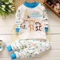 Pijamas del bebé Niñas Sleeperwear Nuevos Niños Otoño Bebé Niño Ropa Interior de Algodón Ropa de Cama completa Sleeperwear Infantil