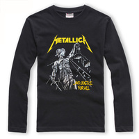 Metallica Justice For All Long Sleeve T Shirts Men Heavy Metal Black T Shirt Women Rock