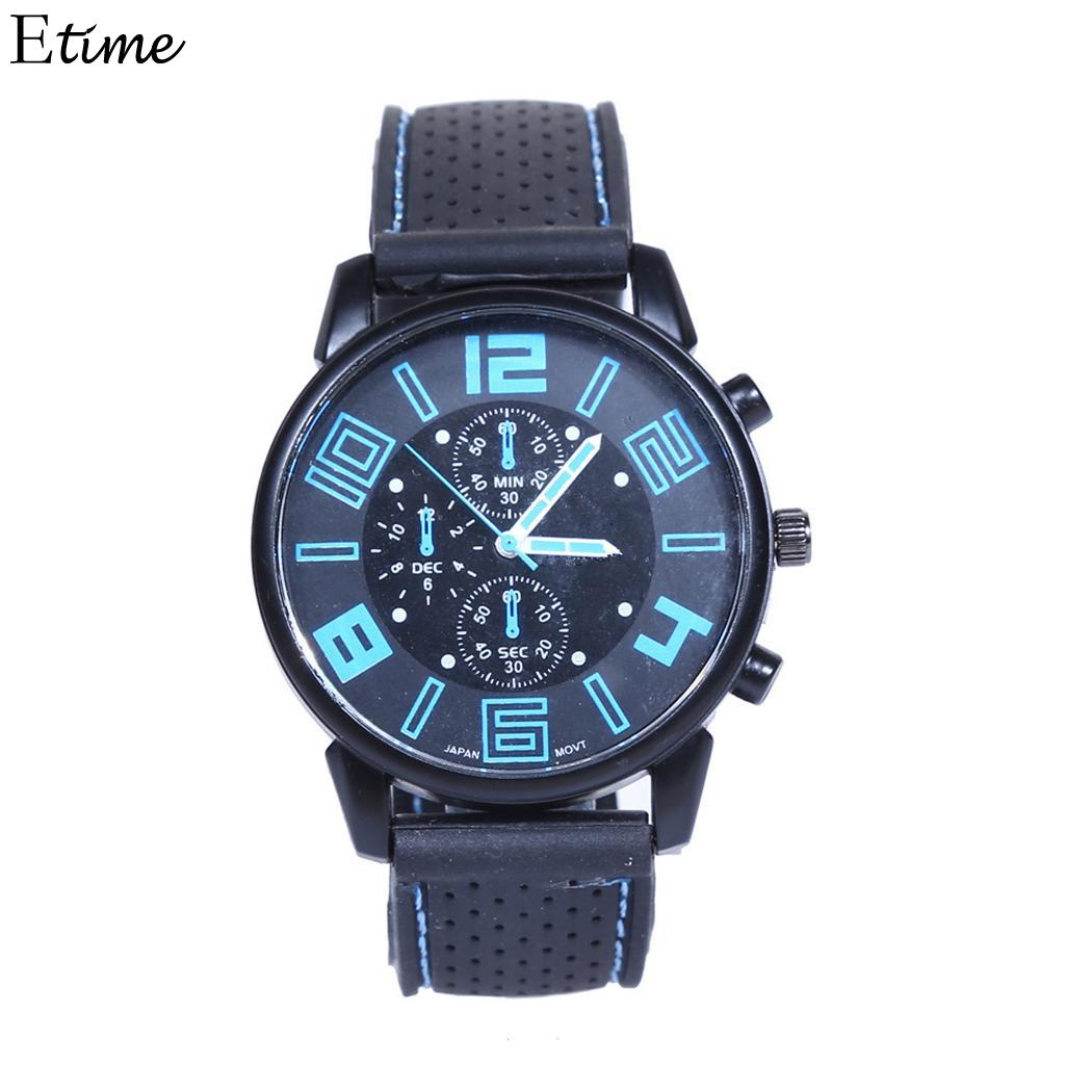 Fanala Watch Men Relogio Masculino Casual Silicone Band Sporting Fashion Wrist Quartz Men Watches Excellent Quality Men's Watches