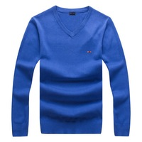 Mens Pullover Sweater With Pure Color And Classical Design Pattern Luxury Brand V Neck Style High