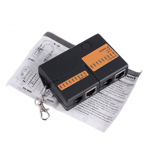 PROMOTION! Mini RJ45 RJ11 Cat5 Network LAN Cable Tester with KeyChain