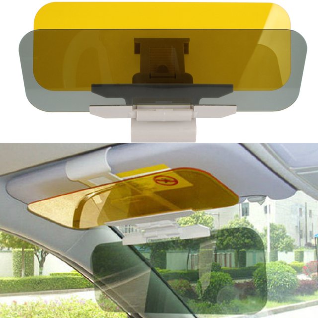 Car Sun Visor Anti-Glare Goggle 2 in 1 Auto Day Night Vision Goggles Mirror  Sun Visors Goggle Sunshade Mirrors bdba28cf7f0