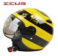 Brand ZEUS Vintage Motorcycle helmet,electric bicycle scooter Open face helmet,zs-210c helmet,moto 3/4 capacete DOT approved