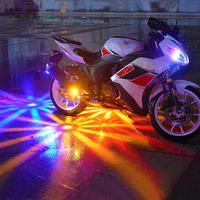 OKEEN Motorcycle RGB Llight 6 Colors LED Fashion Cool Flash Flower Shape Light Under Motorcycle Car