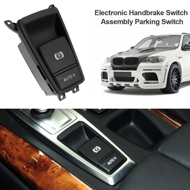 1 piezas freno de mano electrónico interruptor de estacionamiento para BMW X5 X6 E70 E71 Auto asistencia de aparcamiento interruptor de botón alto calidad