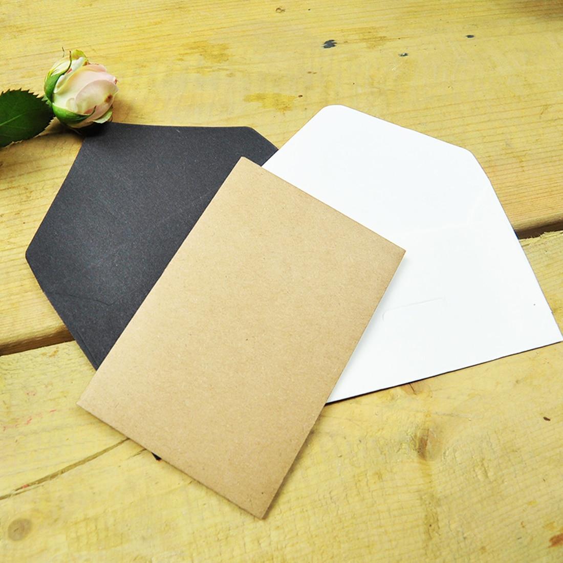 FangNymph Blank Retro Simple Paper Postcard Envelope 20Pcs/Pack The Envelopes For Invitations Kraft Paper Sobres