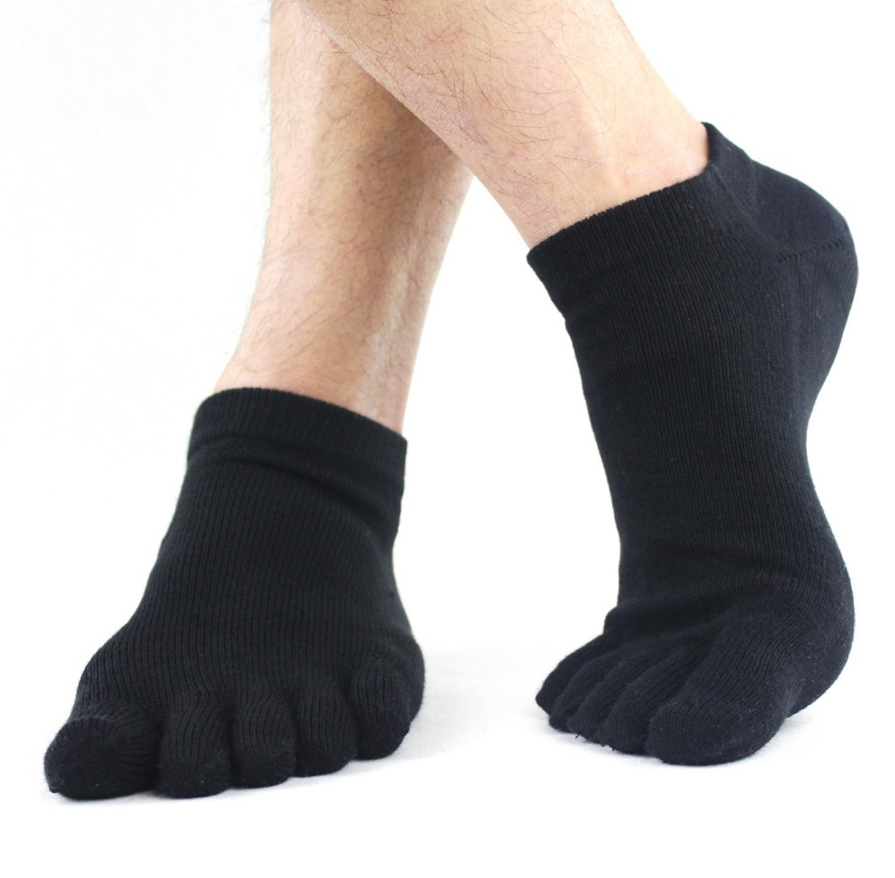 1 Pair Spring Summer Winter Autumn Solid Comfortable Men Women's Guy Five Finger Pure Soft Cotton Toe   Socks   5 colors Wholesale