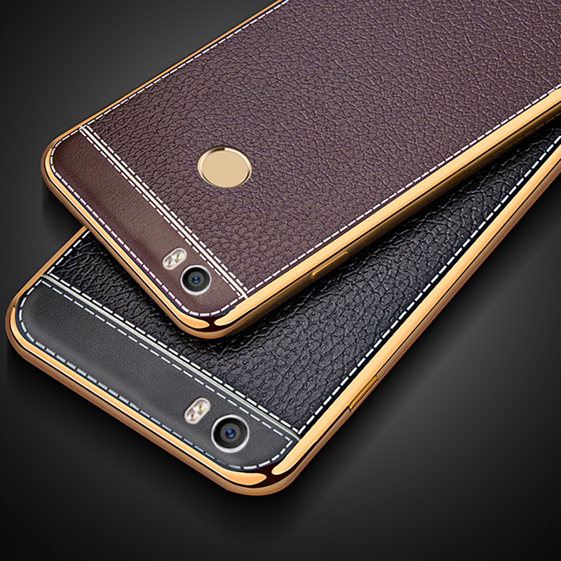 Plating TPU Soft Leather Pattern Cover Silicone Case for Huawei Mate 7 8 9 10 Pro P8 P9 Lite 2017 P10 Plus Honor 6X 4X Y7 Prime