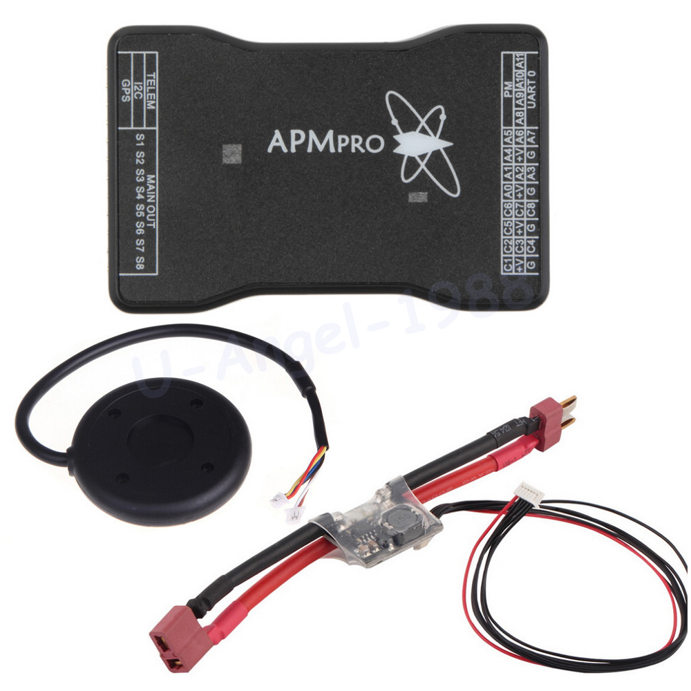 MINI APM PRO Flight Controller Board + Ublox NEO 7M GPS Module + Power Module T Plug For Quadcopter Helicopter apm apm2 8 flight controller board minim osd neo m8n 8n 7m gps w stand holder power module for rc quadcopter multicopter