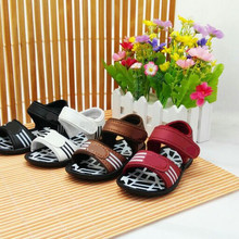 WENDYWU NEW Summer girls sandals 2017 PU leather sandals children beach sandals boy shoes sneaker Rubber shoes baby black