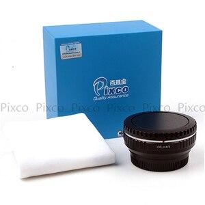 Image 3 - Pixco dla EOS M 4/3 reduktor ogniskowy wbudowany zestaw apertury do Canon mocowanie EF obiektyw do Micro 4/3 + osłona obiektywu u clip + paski do aparatu