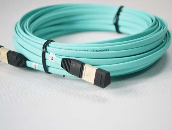 25 metros MPO/MTP (hembra)-MPO (hembra) OM3 12 hilos cable de fibra óptica para módulo QSFP + SR