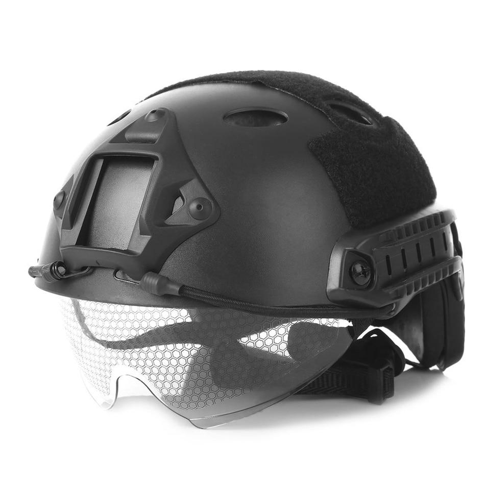 Militar del Ejército táctico casco Airsoft Abs casco protector accesorios máscara de Paintball táctico cascos militares