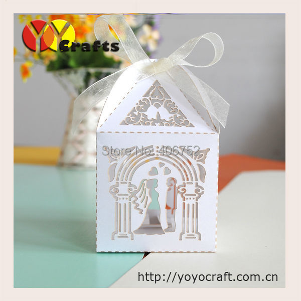 Indian Wedding Favors Wholesale: White Paper Lace Laser Cut Indian Wedding Favor Gift Box