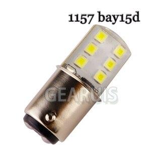 Image 2 - 10 adet 1157 BAY15D Strobe flaş yanıp sönen 12 SMD 2835 LED silikon P21/5W ters işıklar fren lambası park lambası 12V beyaz kırmızı mavi