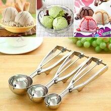 4CM 5CM 6CM Kitchen Ice Cream Mash Potato Scoop Stainless Steel Spoon Spring Handle Kitchen Accessories Wholesale New Arrival