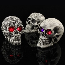 Halloween party club bar scary LED skull head Evil Witch holds the magic weapon Skull and Bones цена и фото