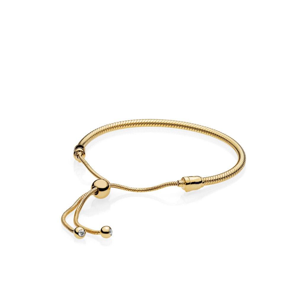 Authentique 925 Bracelet en argent Sterling couleur or réglable serpent chaîne Bracelets Bracelets pour les femmes de mariage bijoux cadeau