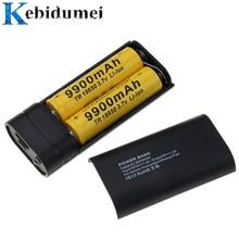 Kebidumei 2X 18650 USB Power Bank Ladegerät Fall DIY Box für telefon poverbank Für iPhone tragbare lade Externe Batterie