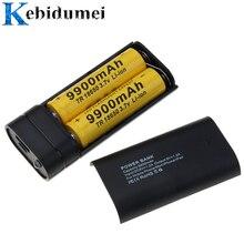 Kebidumei 2x 18650 usb power bank caso carregador de bateria caixa diy para o telefone poverbank para iphone carregamento portátil bateria externa