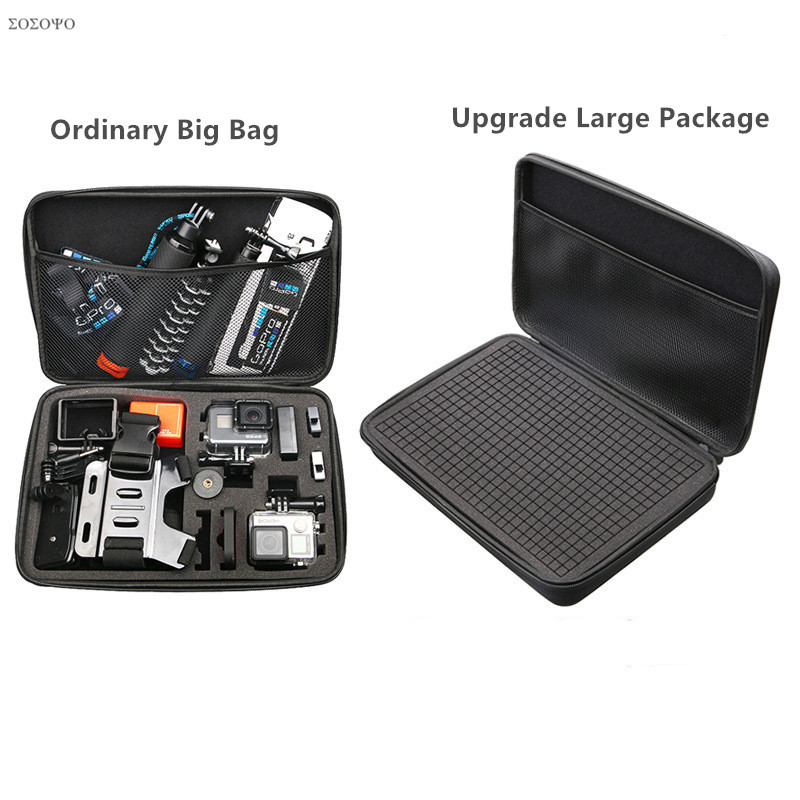 DIY Storage Bag Waterproof shockproof Case Travel Bag EVA Box For Gopro Hero 7 6 5 4 3 2 Xiaomi Yi 4K SJCAM Camera AccessoriesDIY Storage Bag Waterproof shockproof Case Travel Bag EVA Box For Gopro Hero 7 6 5 4 3 2 Xiaomi Yi 4K SJCAM Camera Accessories