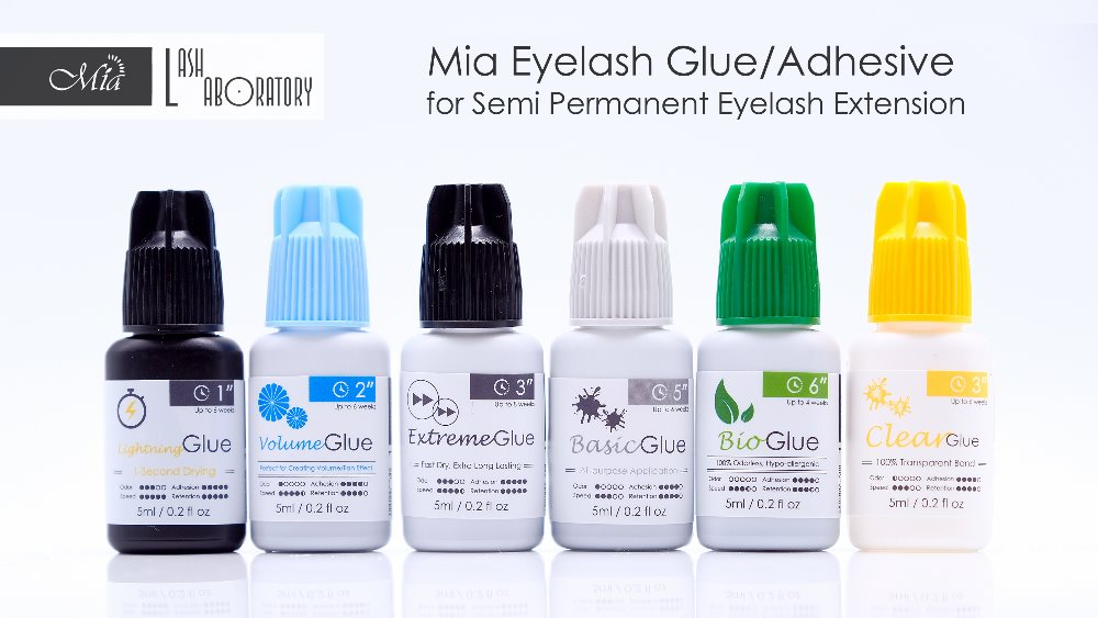 Mia Volume Application Eyelash Extension Glue Adhesive Medical Grade Perfect for 3D/6D/9D Volume Application. 2 s, 6 weeks