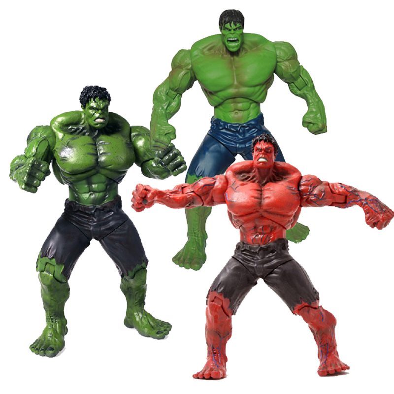 Marvel Super Hero Hulk PVC Toy Figure Model Series 10'' Hulk Action Figures Model Statue Collectible Toy Gift Boy movie super hero the hulk pvc action figure toy 25cm red hulk green hulk figures toys free shipping