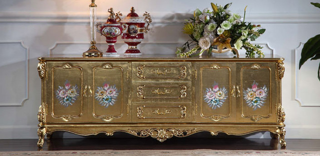 Tv Cabinet Continental Furniture Ltalian Baroque Style Carved Wood Cabinets Custom Handmade High Quality