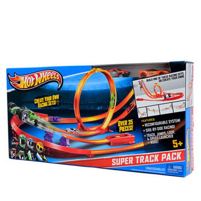 Hot wheels Super Track pack Model samochody dla dzieci z tworzywa sztucznego metalowy samochód zabawki Hot wheels modeli samochodów prezent dla dzieci darmowa wysyłka y0276 w Hot Wheels od Zabawki i hobby na  Grupa 2