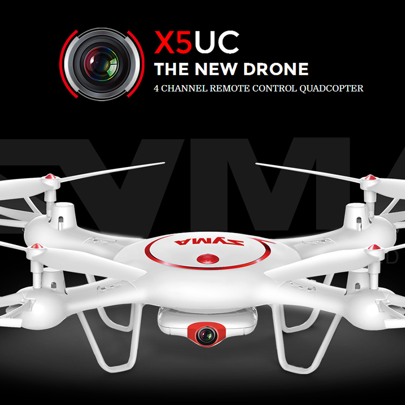 ФОТО Latest Syma Drone X5UC RC Quadcopter 2.4G 4CH Hover Function Headless Mode, 2.0MP HD Camera, X5C Upgraded New Version