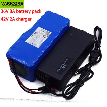 VariCore 36V 8Ah 10S4P 18650 Rechargeable battery pack ,modified Bicycles,electric vehicle 36V Protection with BMS+ 2A Charger