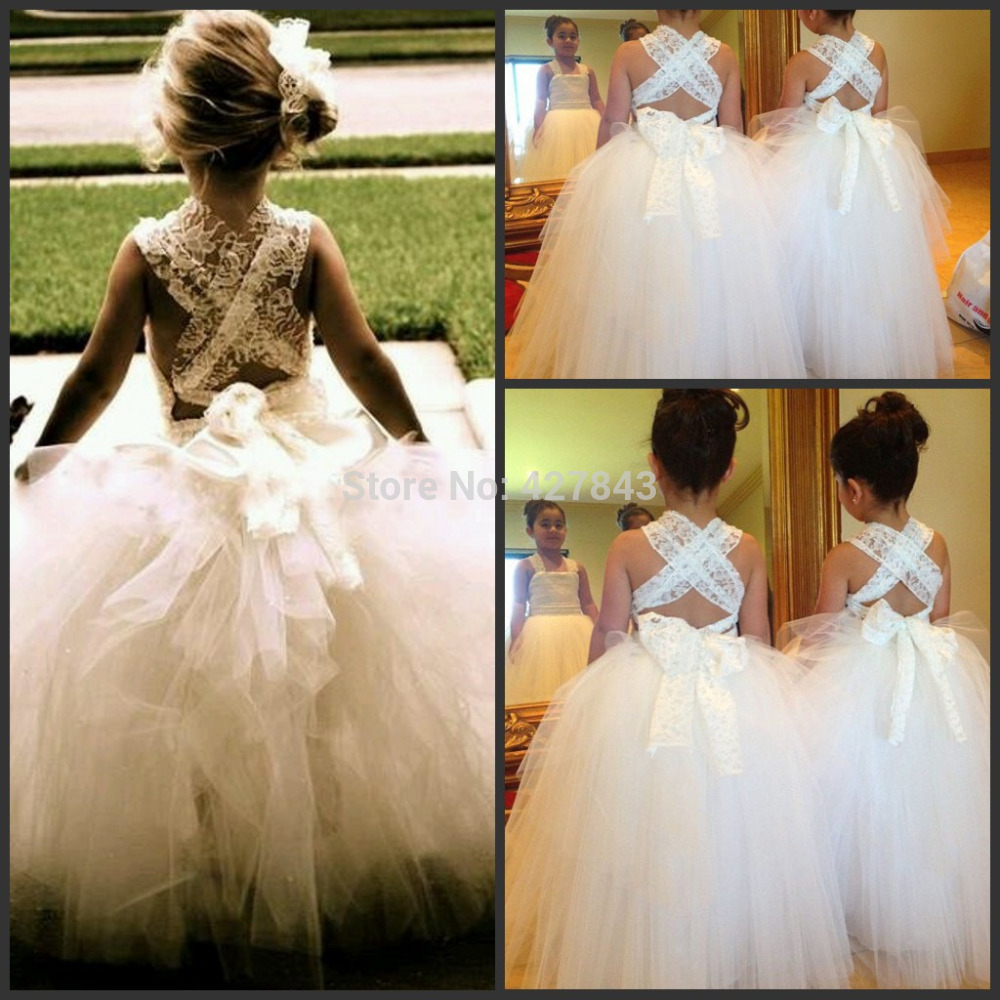 Online Get Cheap Princess Ivory Girls Dresses Ball Gown Scoop ...