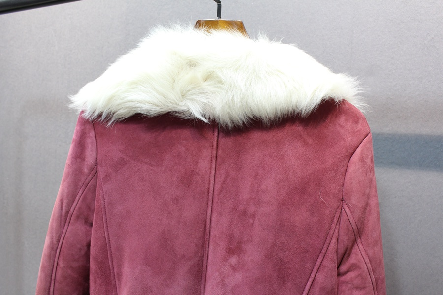 women natural leather and fur winter jacket warm (25)
