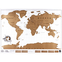 New Travel Scratch Off Map Personalized World Map Poster Traveler Vacation Log