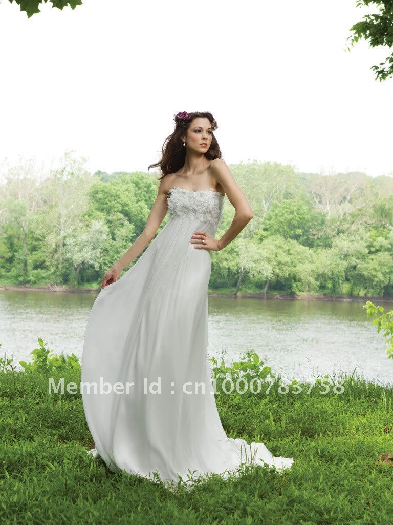 Stunning Bridal Maternity Wedding Dress White Strapless