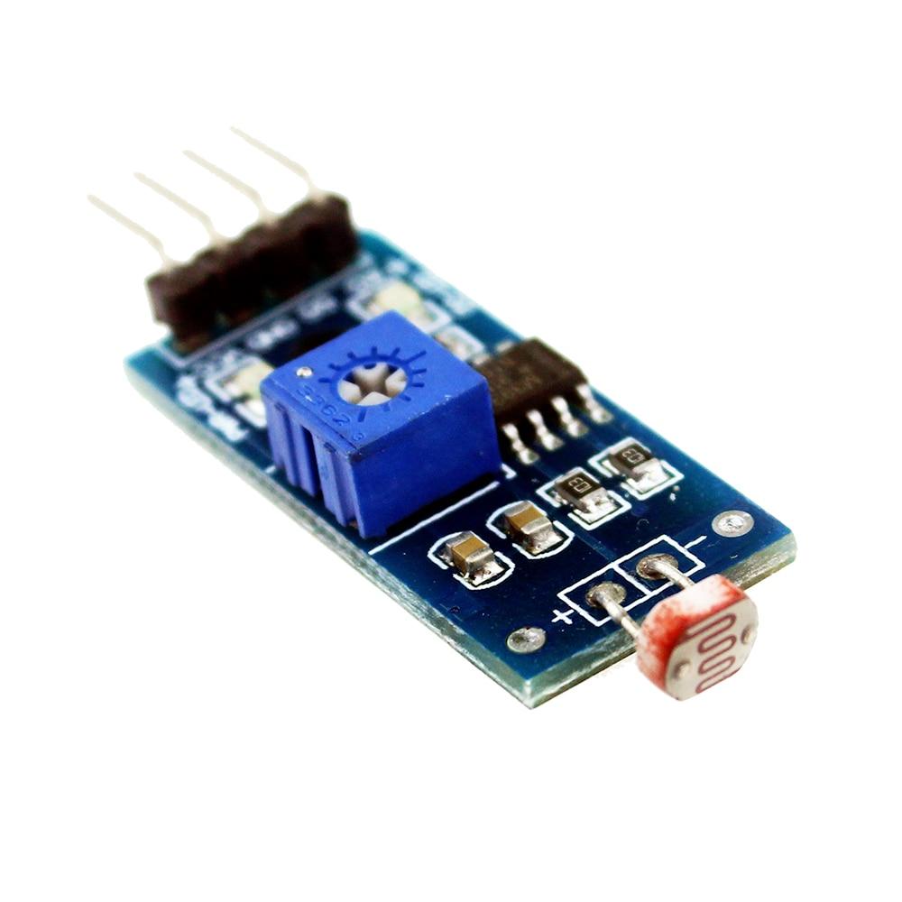 1 шт. оптический чувствительный сопротивление обнаружения света Фоточувствительный сенсор модуль для arduino 4pin DIY Kit
