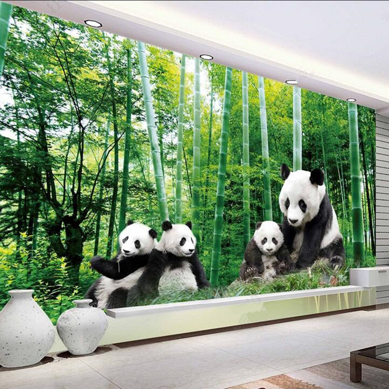 Custom 3D Photo Wallpaper for Living Room Kids Bedroom Home Decor Forest National Treasure Giant Panda HD Background Wall Mural custom 3d photo wallpaper murals 3d modern anime cute panda wall paper mural for kids room living room tv background home decor