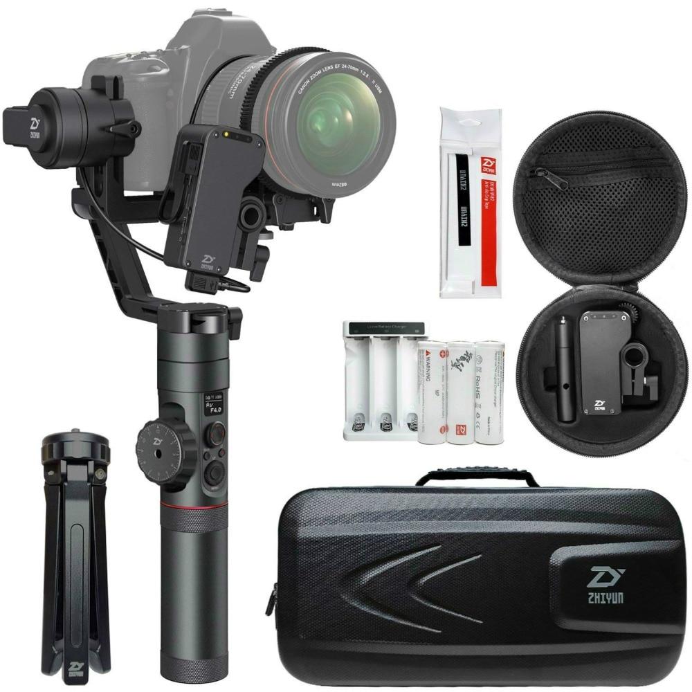 Zhiyun Gru 2 (Ottenere Il Trasporto Servo Seguire Messa A Fuoco) 3-Axis Handheld Gimbal Stabilizzatore per Canon Nikon Sony DSLR Macchina Fotografica del Peso di 1.1-7lb