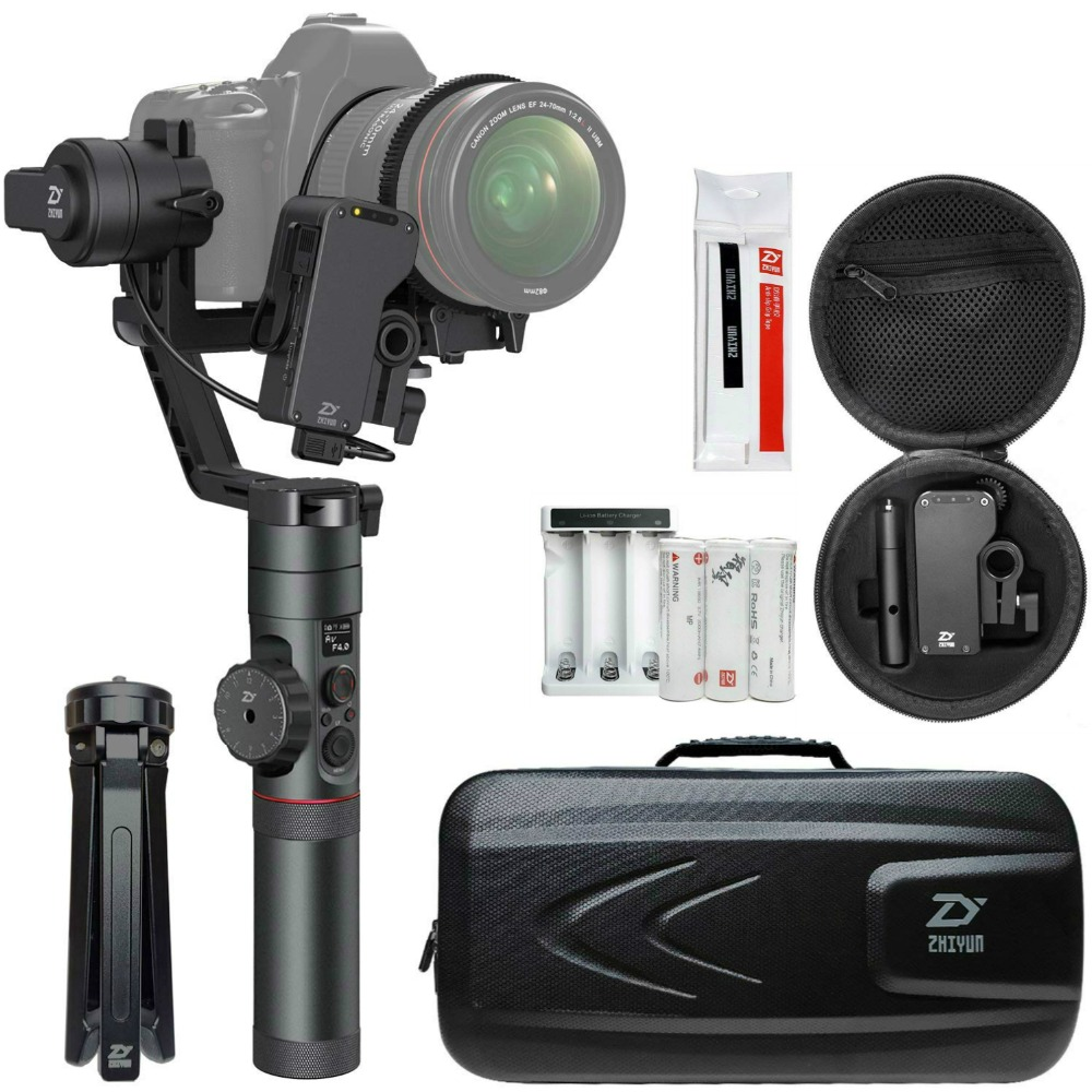 Zhiyun Grue 2 (Obtenir Livraison Servo Follow Focus) 3-axes De Poche Cardan Stabilisateur pour Canon Nikon Sony DSLR Caméra Pesant 1.1-7lb