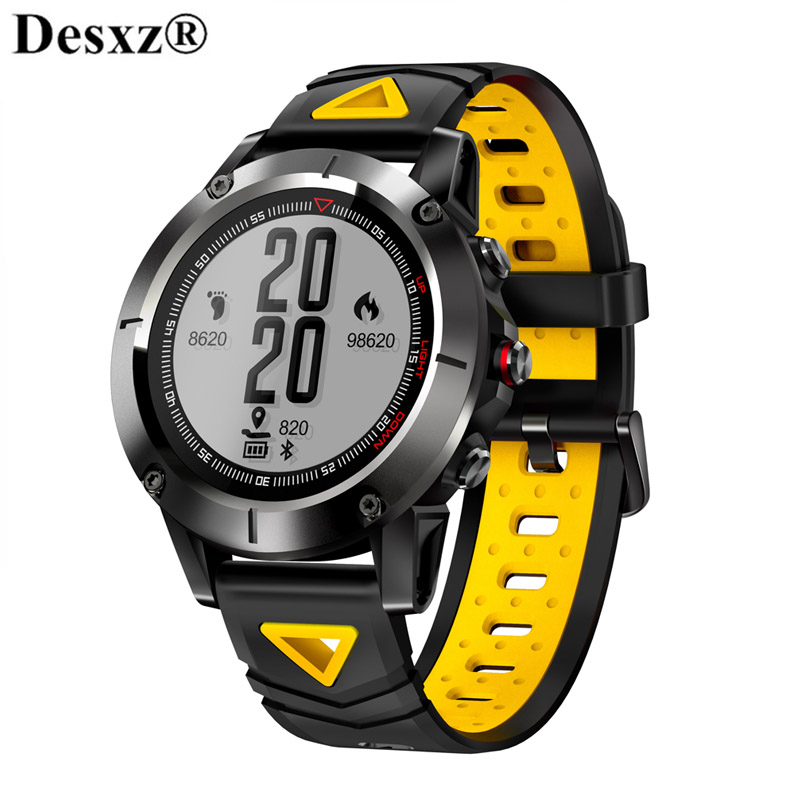 цена на Desxz Smart Watch band IP68 Waterproof Wristwatch Blood Pressure GPS Sports Smartwatch Men Bluetooth 4.0 for Android IOS phone
