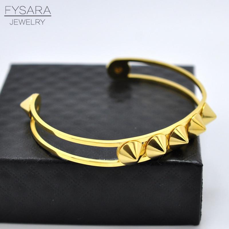Fy Bijoux ᑎ‰fysara en acier inoxydable punk bijoux or couleur grand cinq