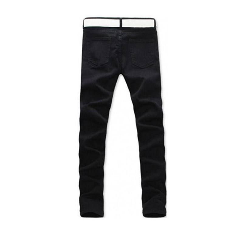 2017 Male  Straight Slim Fit Trousers Men Casual Jeans Mid Pencil Pants fashion europe style printed jeans men denim jeans slim black painted pencil pants long trousers tight fit casual pattern pants