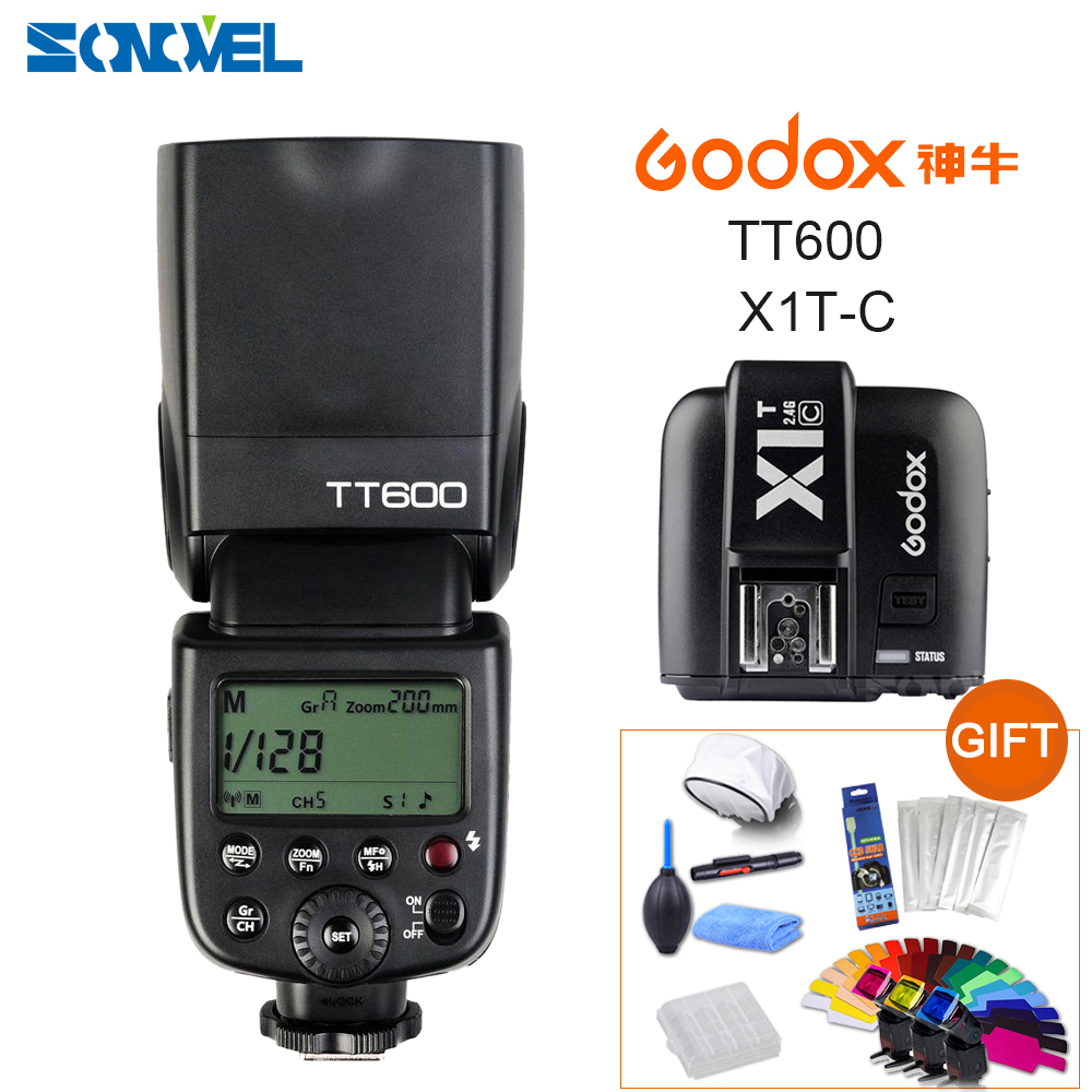 Godox TT600 2 4G Wireless Camera Flash Speedlite Godox X1T CTransmitter TTL Wireless Remote Flash Trigger