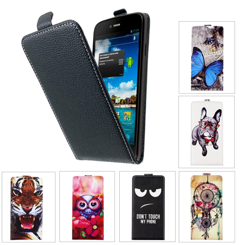 SONCASE case for DEXP Ixion ES355 Ice Flip back phone case 100% Special Lovely Cool cartoon pu leather case Cover