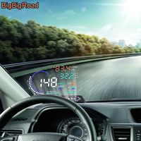 BigBigRoad Car HUD Windscreen Projector For Jaguar S Type X Type F Pace / For Toyota Fortuner SW4 Innova RAV4 Head Up Display