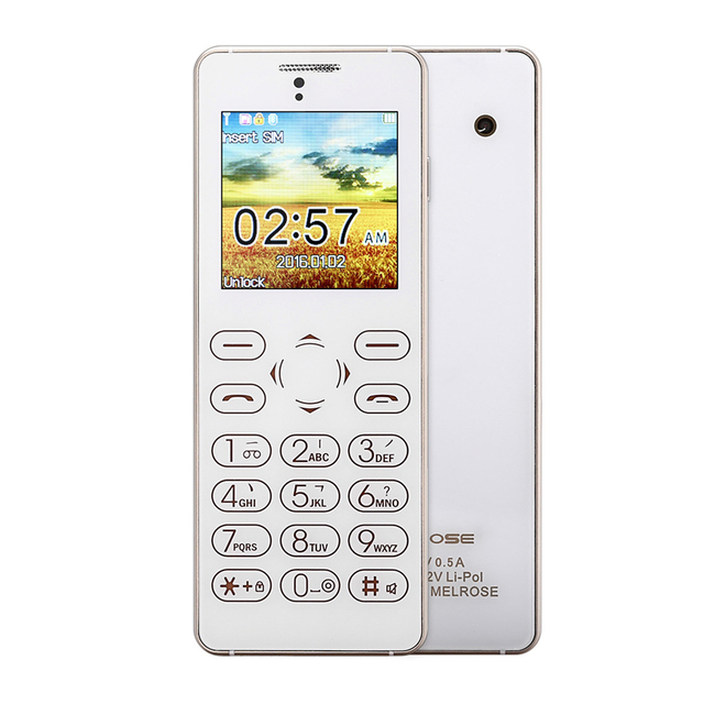 Original Melrose T1 1.54 inch Full Touch Card Phone Bluetooth 3.0 FM Back Camera Anti-lost Audio Player Sound Recorder
