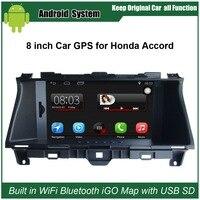 8 cali Pojemnościowy Ekran Dotykowy Car audio dla Honda Accord 08 (2008-2012) Samochód DVR + Android telefon komórkowy i interakcji hosta